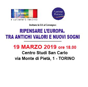 """Invito al Convegno """"RIPENSARE L'EUROPA. TRA ANTICHI VALORI E NUOVI SOGNI"""" con Marcello VENEZIANI"""